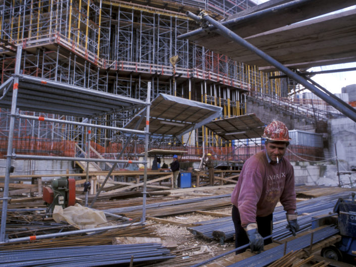 I lavori di costruzione del nuovo Auditorium di Roma. Maggio 2002