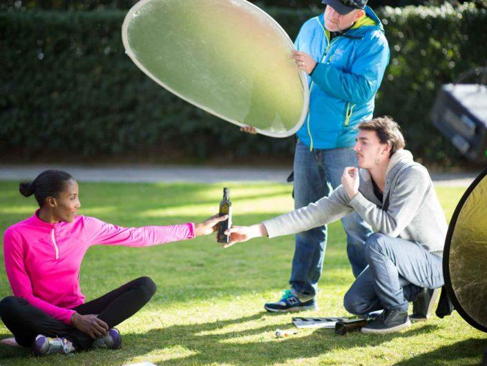 """Shooting ufficiale della campagna """"Settimana nazionale per la prevenzione oncologica"""", della Lilt. Tra i testimonial l'atleta Fiona May. Marzo 2015"""