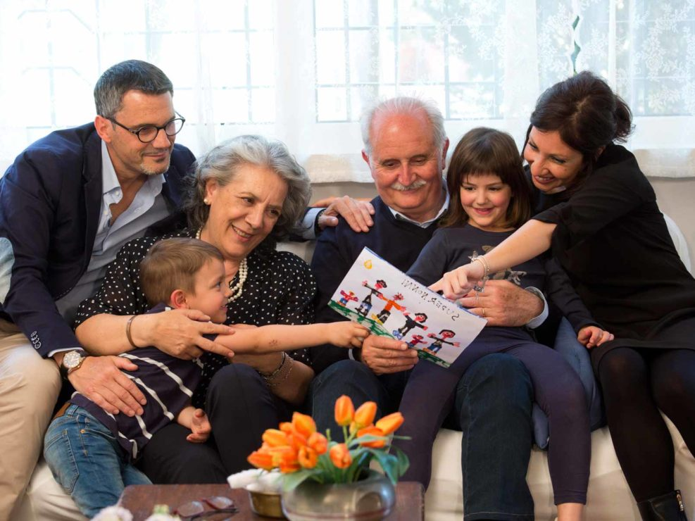 Shooting ufficiale della campagna ' Millepiazze, Festa dei nonni d'Italia', della Fondazione Senior Italia. Marzo 2016