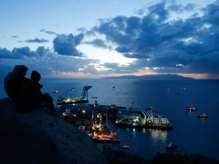 Isola del Giglio,naufragio della Costa Concordia