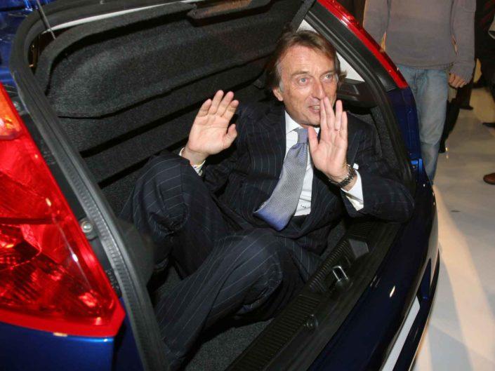 Il Presidente della Fiat Luca Cordero di Montezemolo presenta i nuovi modelli FIAT. Roma ottobre 2005
