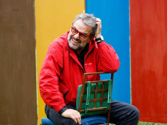 Ritratto del fotografo Oliviero Toscani. Ottobre 2008