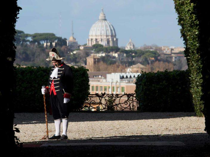 La villa del Priorato di Malta all'Aventino. Roma gennaio 2016